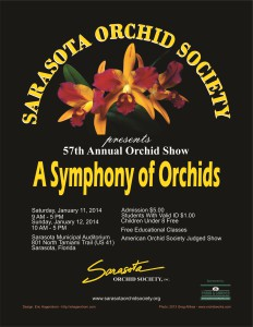2014 Sarasota Orchid Society Poster
