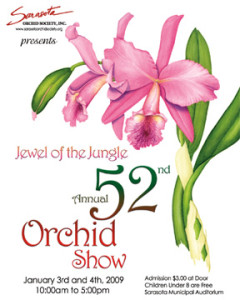 52 Annual Orchid Show Poster 5x7
